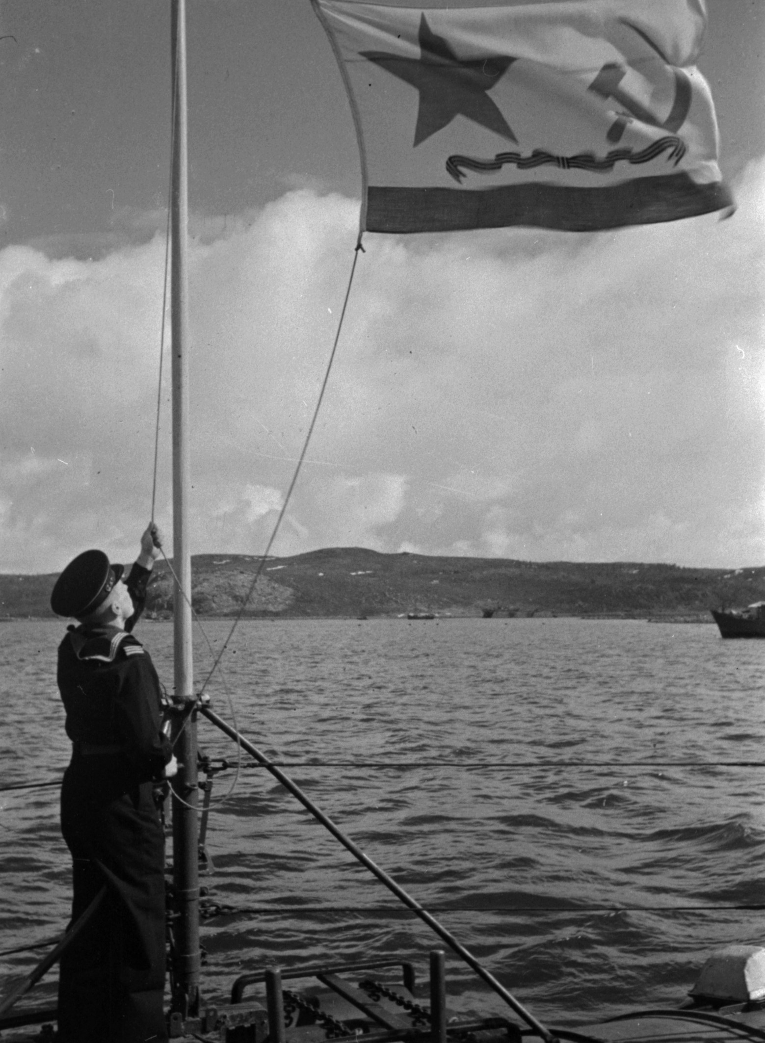 Поднятие гвардейского флага, 1943